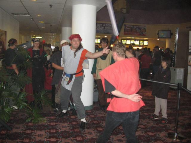 Fighting at Movie Demo